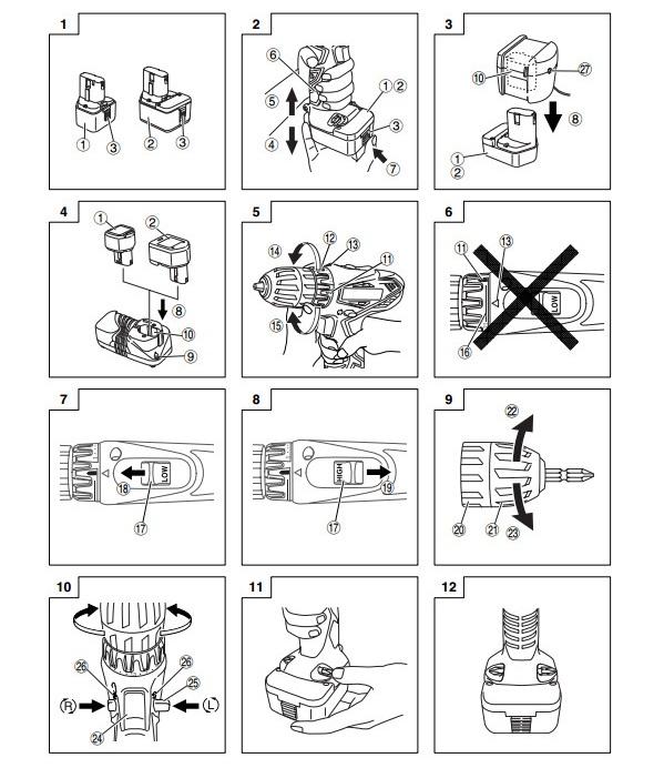 инструкция для шуруповерта хитачи - фото 10