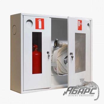 Шкаф пожарный ШПК-315 НОБ навесной открытый белый