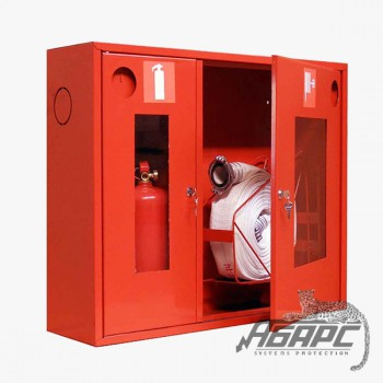 Шкаф пожарный ШПК-315 НОК навесной открытый красный