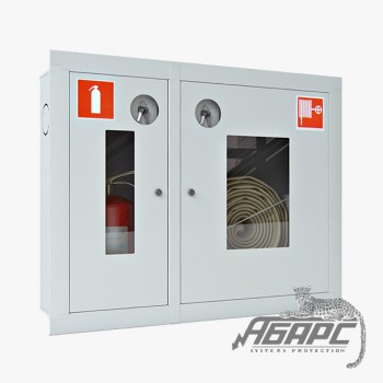 Шкаф пожарный ШПК-315 ВОБ встраиваемый открытый белый