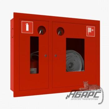 Шкаф пожарный ШПК-315 ВОК встраиваемый открытый красный