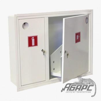 Шкаф пожарный ШПК-315 ВЗБ встраиваемый закрытый белый
