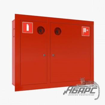 Шкаф пожарный ШПК-315 ВЗК встраиваемый закрытый красный
