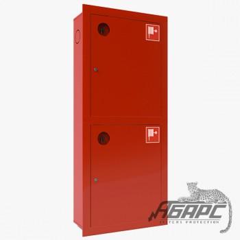 Шкаф пожарный ШПК-320-21 ВЗК встроенный закрытый красный