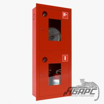 Шкаф пожарный ШПК-320 ВОК встраиваемый открытый красный