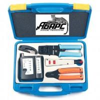 Hyperline HL-NTK110 набор инструмента для обжима разъемов (коннекторов) RJ-45 и RJ-12
