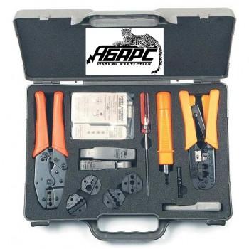 Hyperline HT-4015 набор инструмента для обжима разъемов (коннекторов) RG и RJ