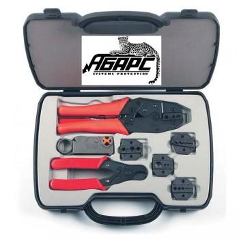 Hyperline HT-NTK160 набор инструмента для обжима разъемов (коннекторов) RG и РК