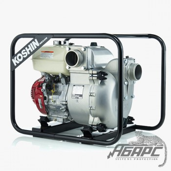Мотопомпа бензиновая KOSHIN KTH-100X для чистой или слегка загрязненной воды