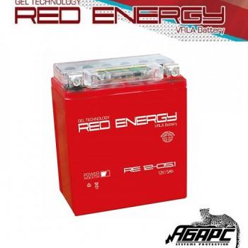 Гелевая аккумуляторная батарея RED ENERGY RE 1205.1 (с встроенным показателем заряда)