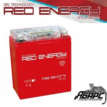 Гелевая аккумуляторная батарея RED ENERGY RE 1207.1 (с встроенным показателем заряда)