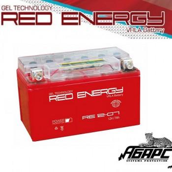 Гелевая аккумуляторная батарея RED ENERGY RE 1207 (с встроенным показателем заряда)