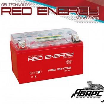Гелевая аккумуляторная батарея RED ENERGY RE 1208 (с встроенным показателем заряда)