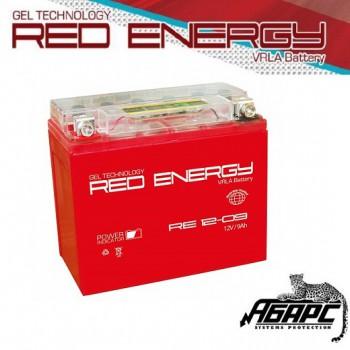 Гелевая аккумуляторная батарея RED ENERGY RE 1209 (с встроенным показателем заряда)