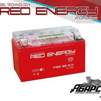 Гелевая аккумуляторная батарея RED ENERGY RE 1210.1 (с встроенным показателем заряда)