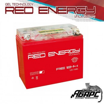 Гелевая аккумуляторная батарея RED ENERGY RE 1214 (с встроенным показателем заряда)