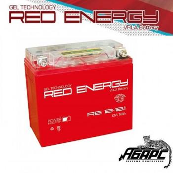 Гелевая аккумуляторная батарея RED ENERGY RE 1216.1 (с встроенным показателем заряда)
