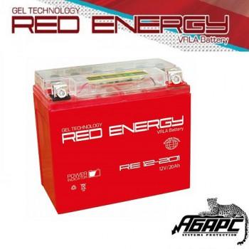 Гелевая аккумуляторная батарея RED ENERGY RE 12201 (с встроенным показателем заряда)