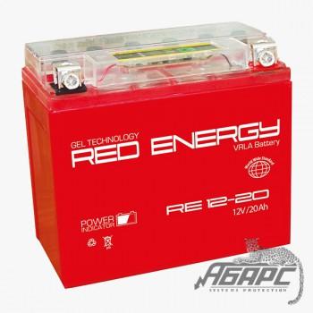 Гелевая аккумуляторная батарея RED ENERGY RE 1220 (с встроенным показателем заряда)