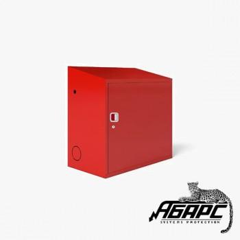 Шкаф ТМ-2 под два газовых баллона на 27л (красный) ПЖК