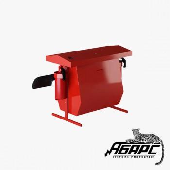 Стенд пожарный металлический КОМБИ с бункером для песка без комплекта (1170*1000*550) ПЖК
