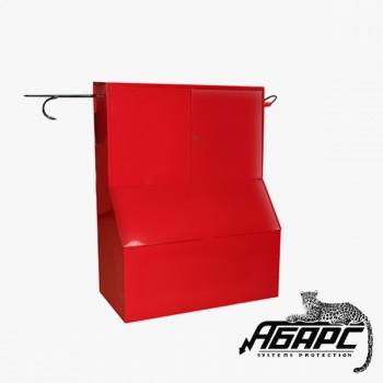 Стенд противопожарный закрытого типа с без окон с ящиком для песка 0,5 м3 серия «Т» (1200*1500*540) ПЖК
