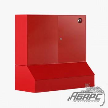 Стенд противопожарный закрытого типа с без окон с ящиком для песка 0,3 м3 серия «Т» (1200*1200*540) ПЖК