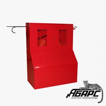 Стенд противопожарный закрытого типа с окнами с ящиком для песка 0,5 м3
