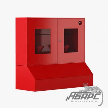 Стенд противопожарный закрытого типа с окнами с ящиком для песка 0,3 м3