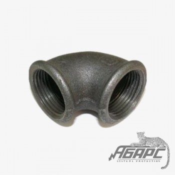 Угольник чугунный муфтовый Ду-50мм (угол 90 градусов)
