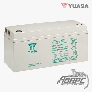 Аккумуляторная батарея Yuasa NPL 78-12IFR (78 Ач, 12 В)