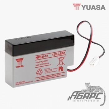 Аккумуляторная батарея Yuasa NP 0.8-12 (0,8 Ач, 12 В)