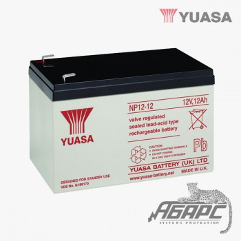 Аккумуляторная батарея Yuasa NP 12-12 (12 Ач, 12 В)