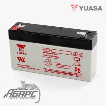 Аккумуляторная батарея Yuasa NP 1.2-6 (1,2 Ач, 6 В)