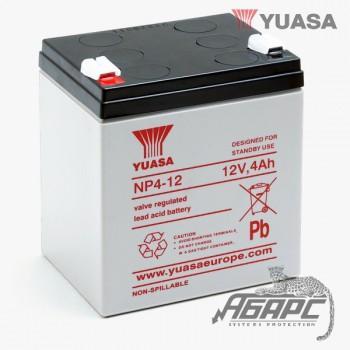 Аккумуляторная батарея Yuasa NP 4-12 (4 Ач, 12 В)