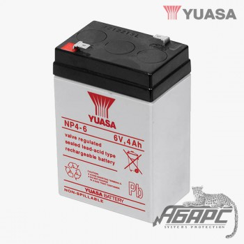 Аккумуляторная батарея Yuasa NP 4-6 (4 Ач, 6 В)