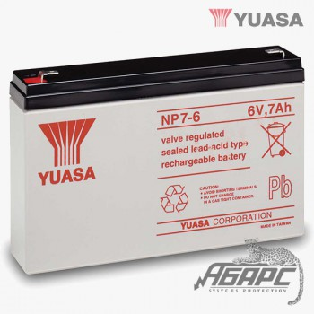 Аккумуляторная батарея Yuasa NP 7-6 (7 Ач, 6 В)