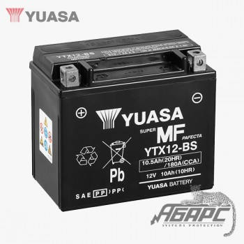 Аккумуляторная батарея Yuasa YTX12-BS (10 Ач, 12 В)