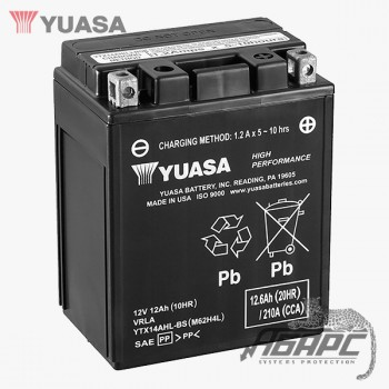 Аккумуляторная батарея Yuasa YTX14AHL-BS (12 Ач, 12 В)