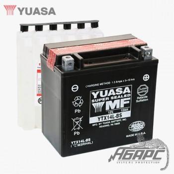 Аккумуляторная батарея Yuasa YTX14L-BS (12 Ач, 12 В)