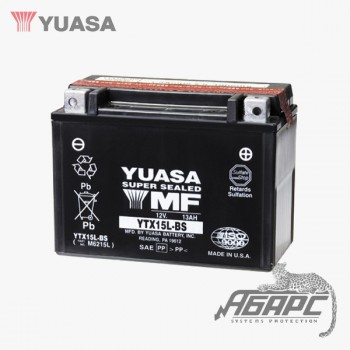 Аккумуляторная батарея Yuasa YTX15L-BS (13 Ач, 12 В)