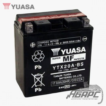 Аккумуляторная батарея Yuasa YTX20A-BS (17 Ач, 12 В)