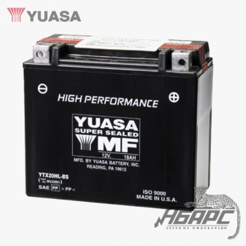 Аккумуляторная батарея Yuasa YTX20HL-BS (20L-BS) 18 Ач, 12 В