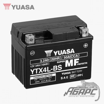 Аккумуляторная батарея Yuasa YTX4L-BS (3 Ач, 12 В)