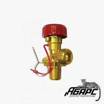ЗПУ ОУ (W19.2/M22 наруж) вентиль под огнетушитель углекислотный ИНЕЙ (ПЖТ)