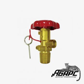 ЗПУ ОУ (W27,8/M16 внутр) вентиль под огнетушитель углекислотный ИНЕЙ (ПЖТ)