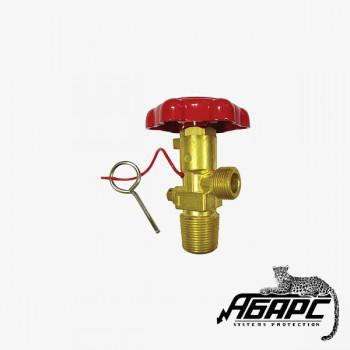 ЗПУ ОУ (W27,8/M22 наруж) вентиль под огнетушитель углекислотный ИНЕЙ (ПЖТ)