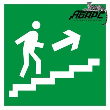 Направление к выходу по лестнице вверх направо (Наклейка)