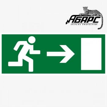 Направление к выходу направо (Наклейка)