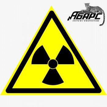 Опасно. Радиоактивные вещества (Предупреждающий знак-наклейка)